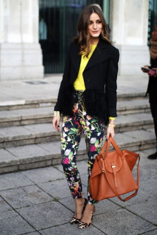Olivia Palermo in printed pants
