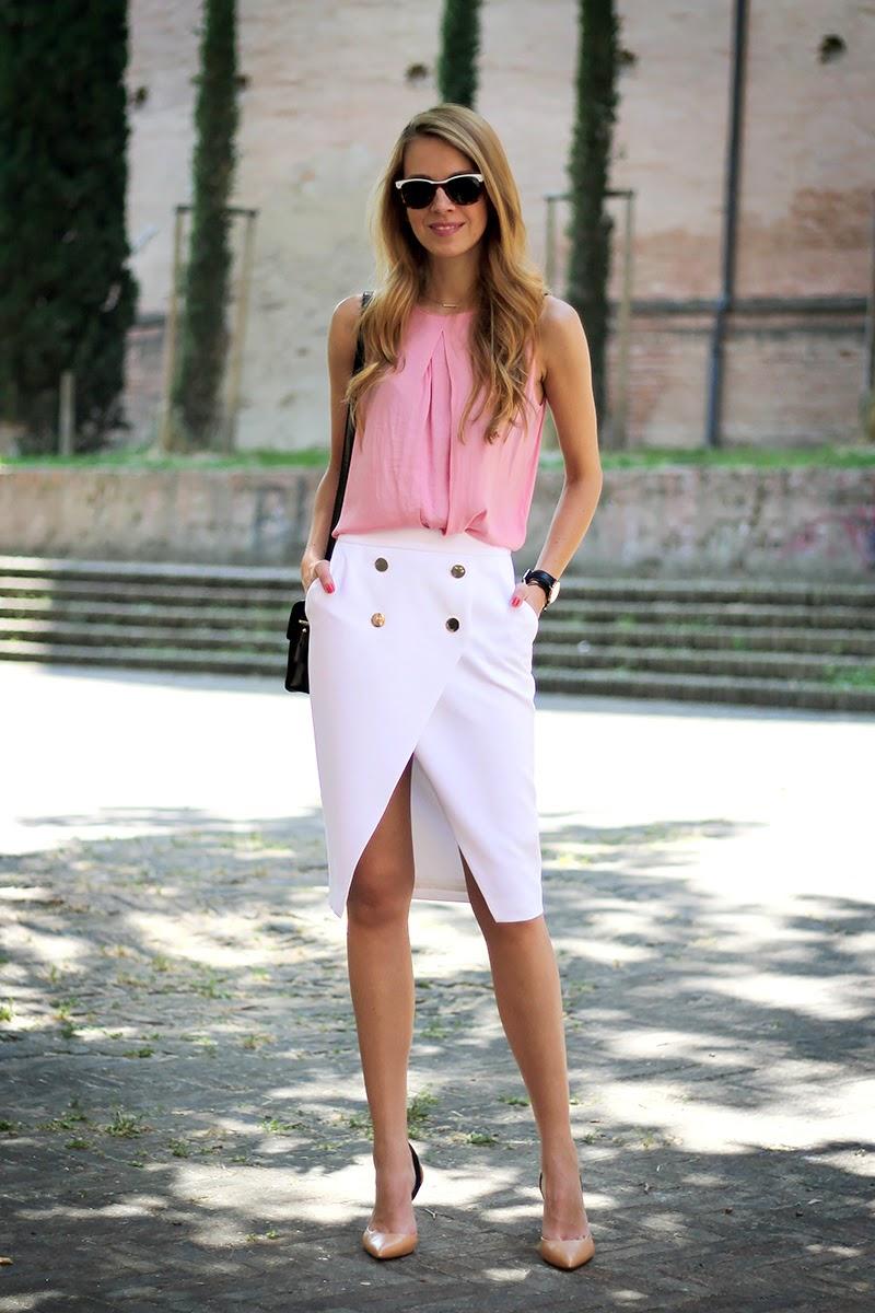 white-zara-midi-skirt-pink-blouse-7